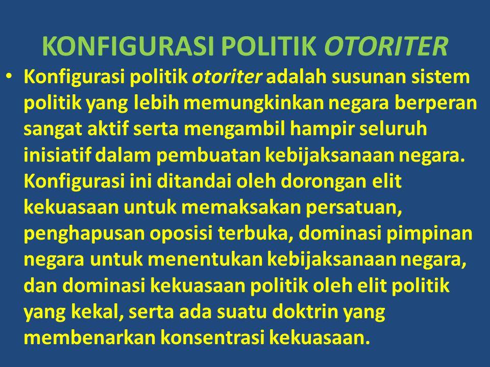 KONFIGURASI POLITIK OTORITER