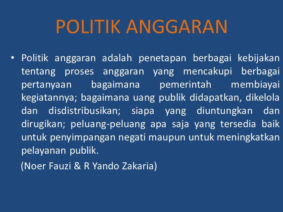 POLITIK ANGGARAN