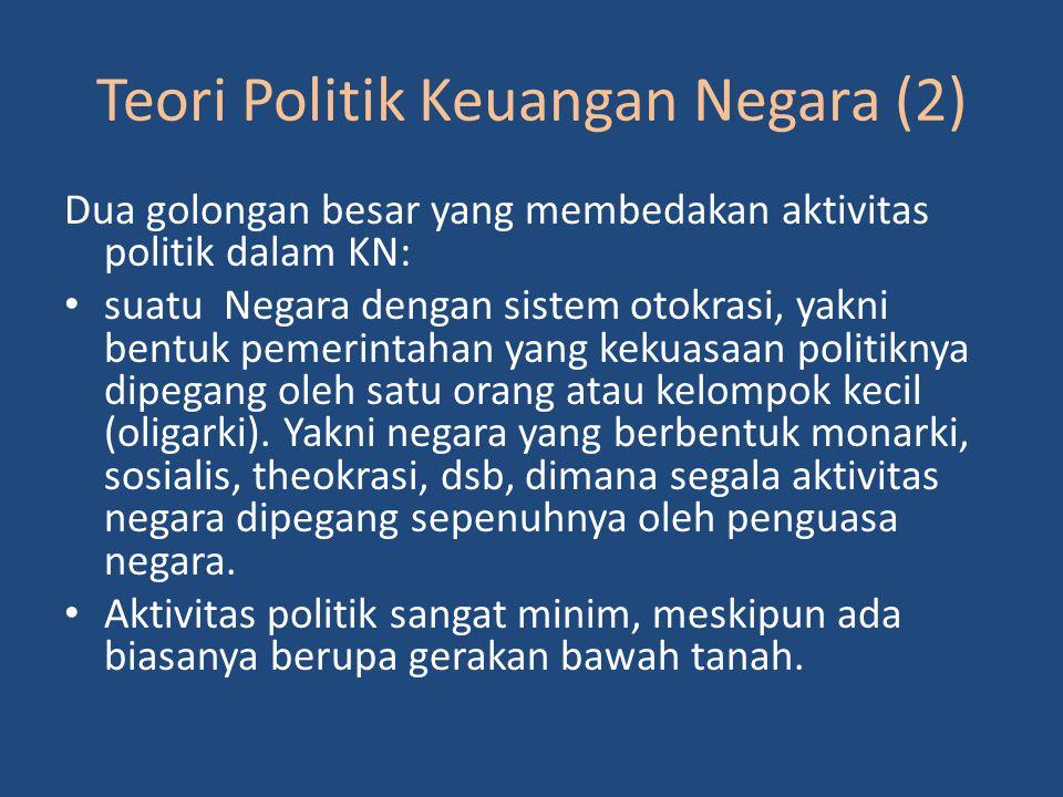 Teori Politik Keuangan Negara (2)