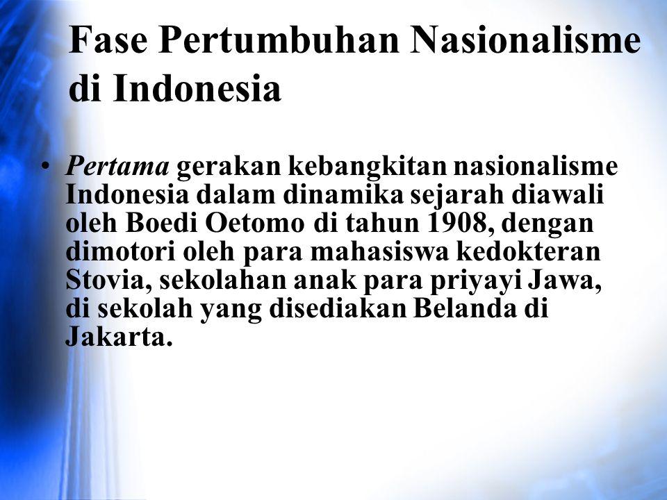 Fase Pertumbuhan Nasionalisme di Indonesia