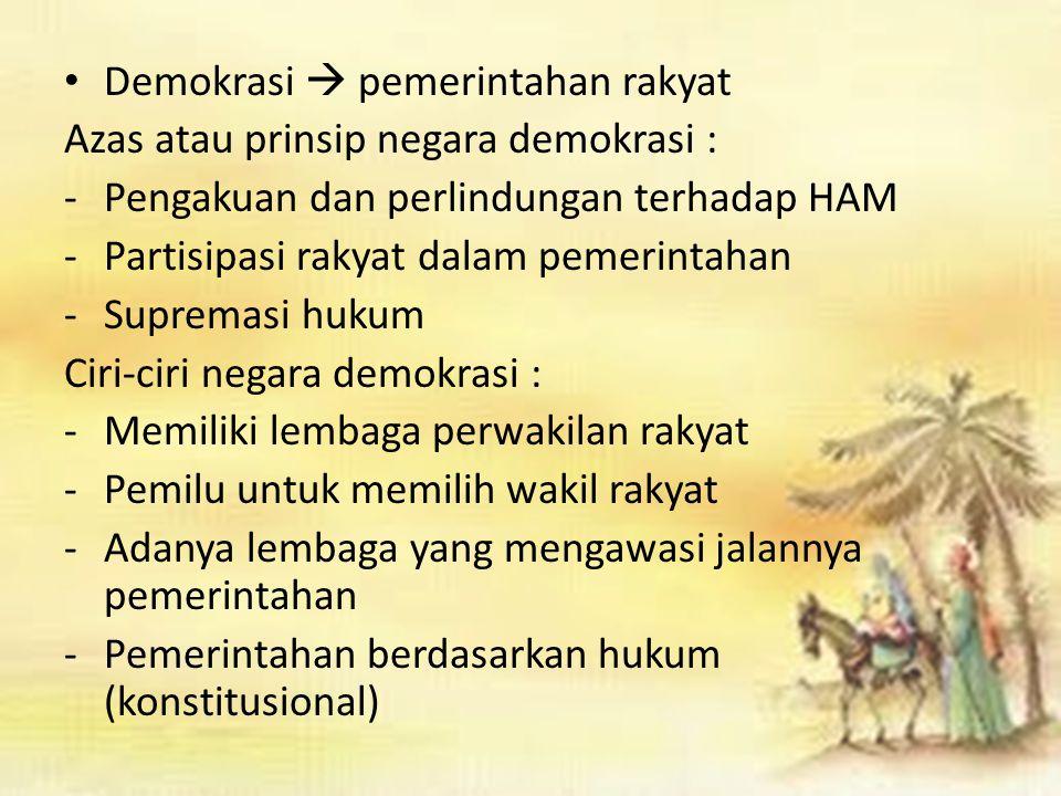 Demokrasi  pemerintahan rakyat