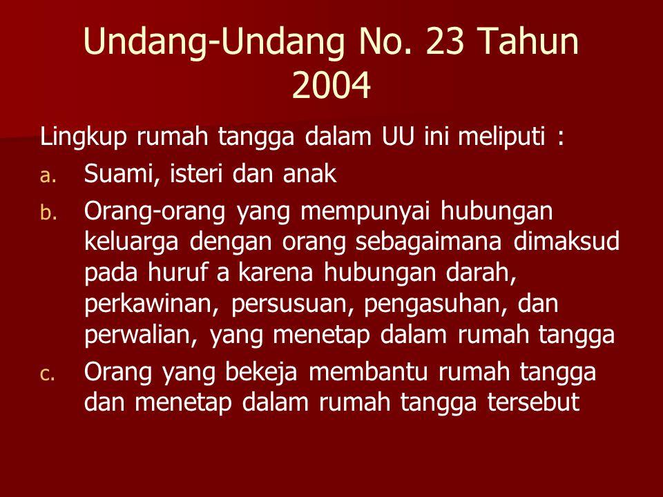 Undang-Undang No. 23 Tahun 2004