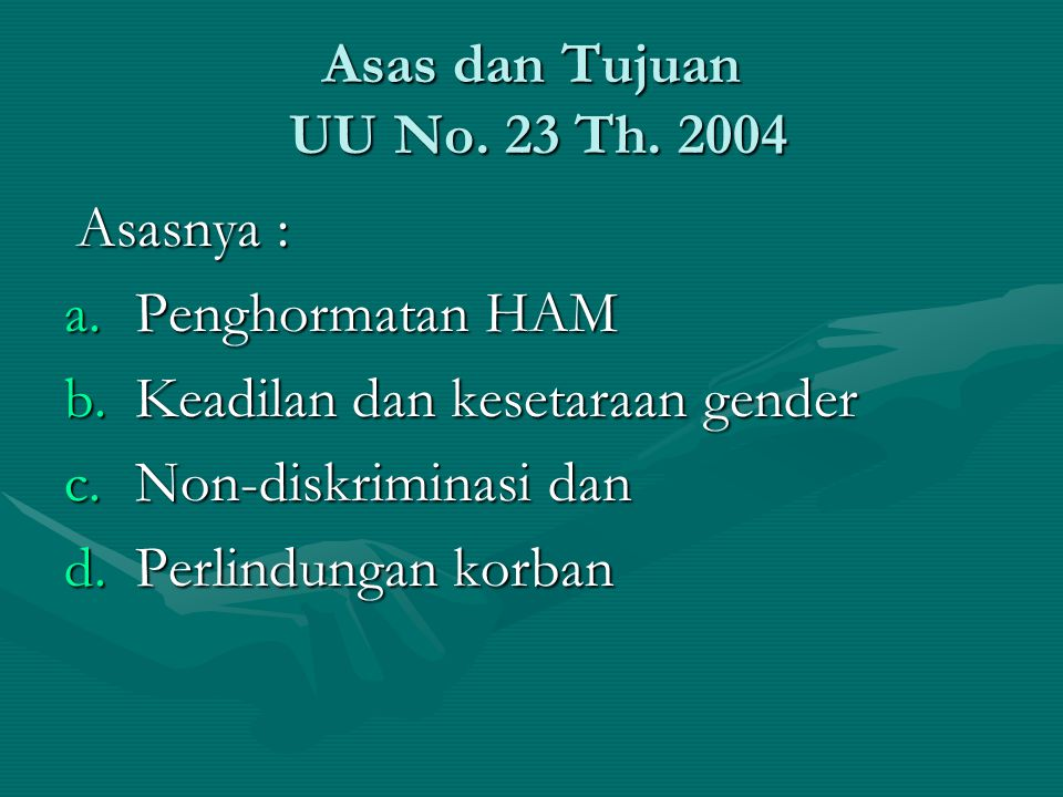 Keadilan dan kesetaraan gender Non-diskriminasi dan