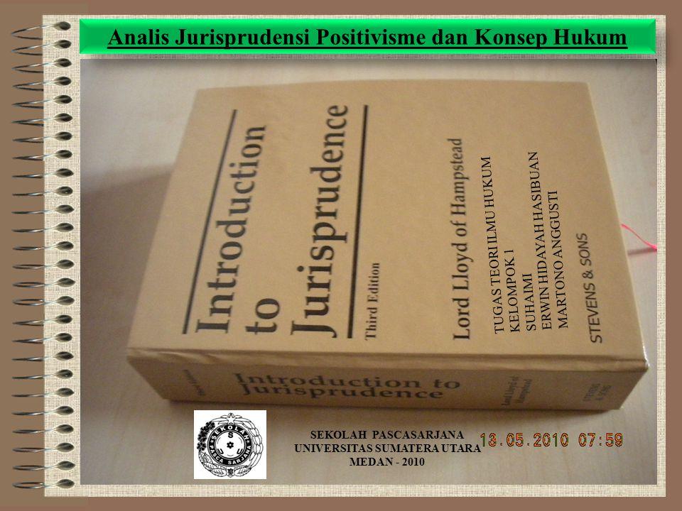 Analis Jurisprudensi Positivisme dan Konsep Hukum