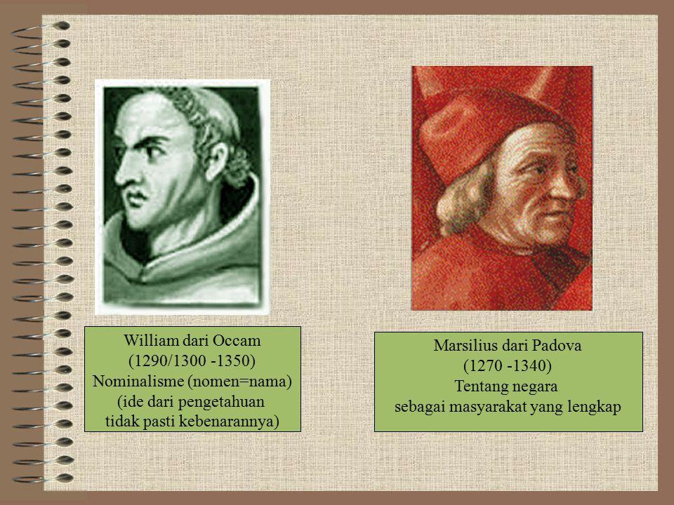 Nominalisme (nomen=nama) (ide dari pengetahuan