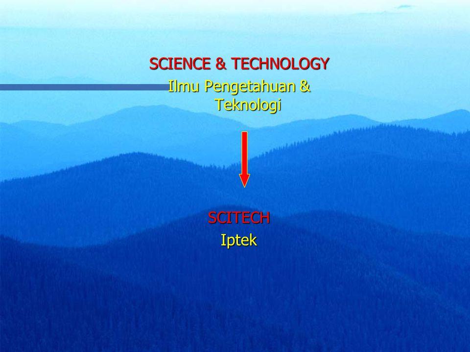 Ilmu Pengetahuan & Teknologi
