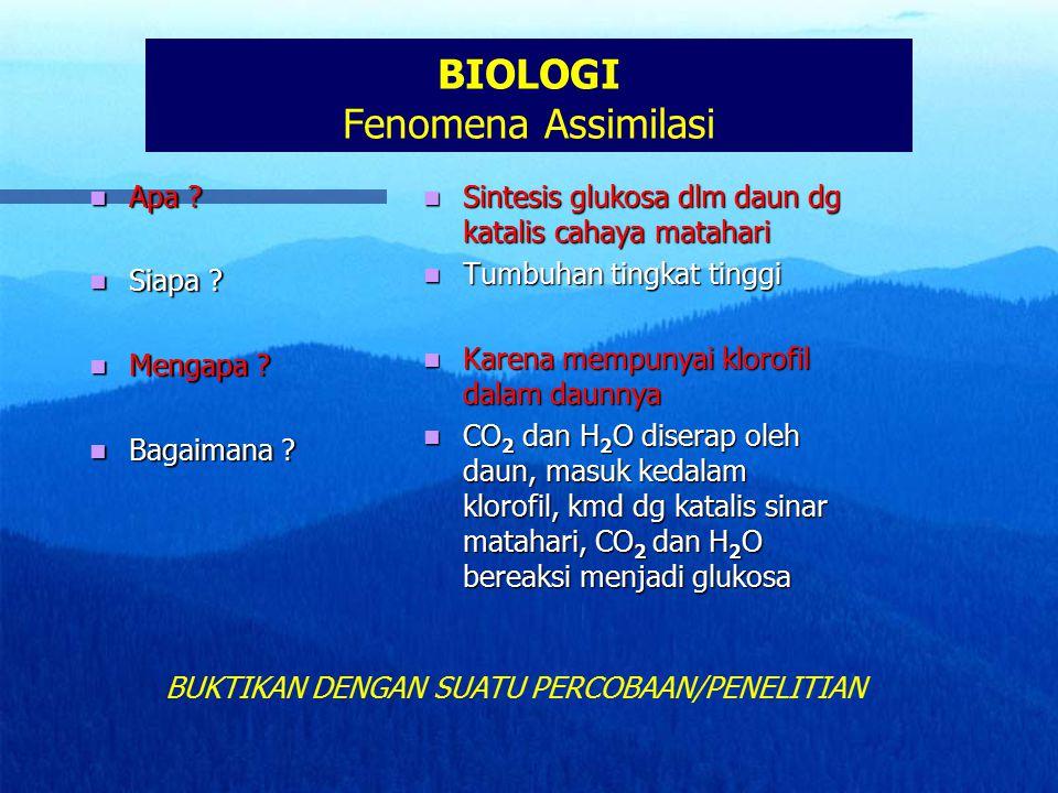 BIOLOGI Fenomena Assimilasi