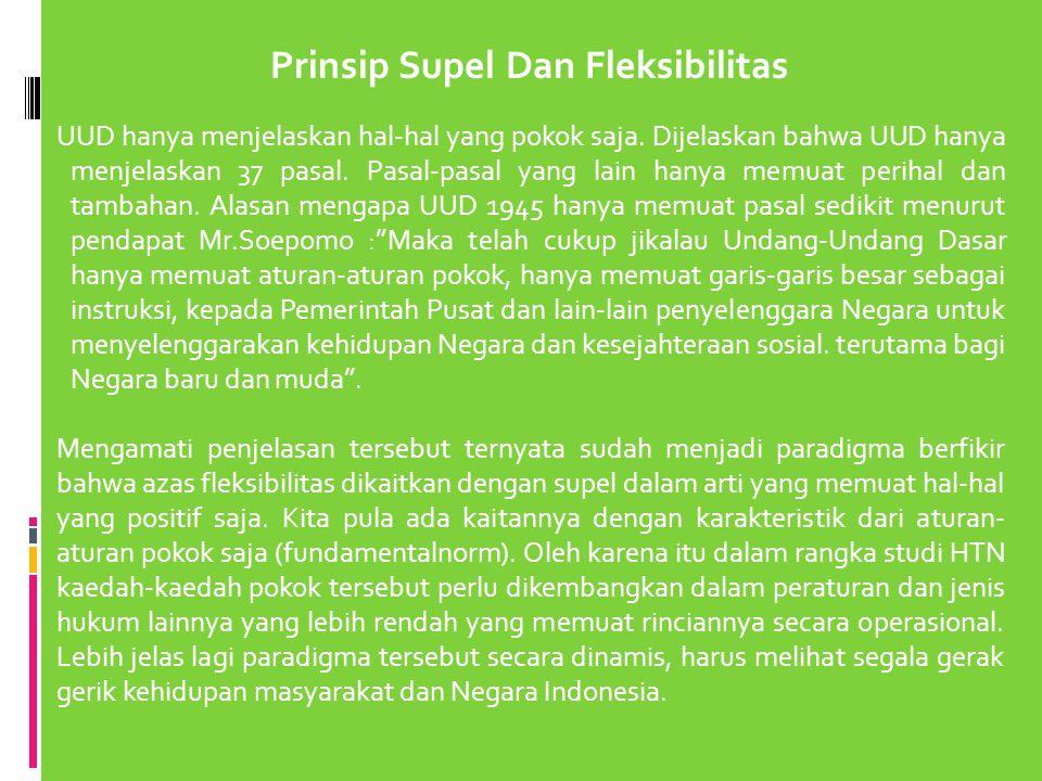 Prinsip Supel Dan Fleksibilitas
