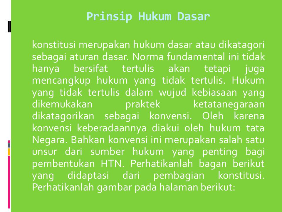 Prinsip Hukum Dasar