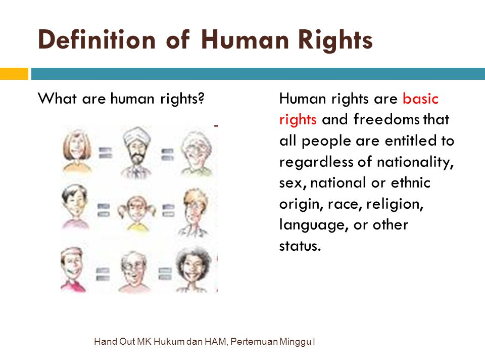 Definition of Human Rights