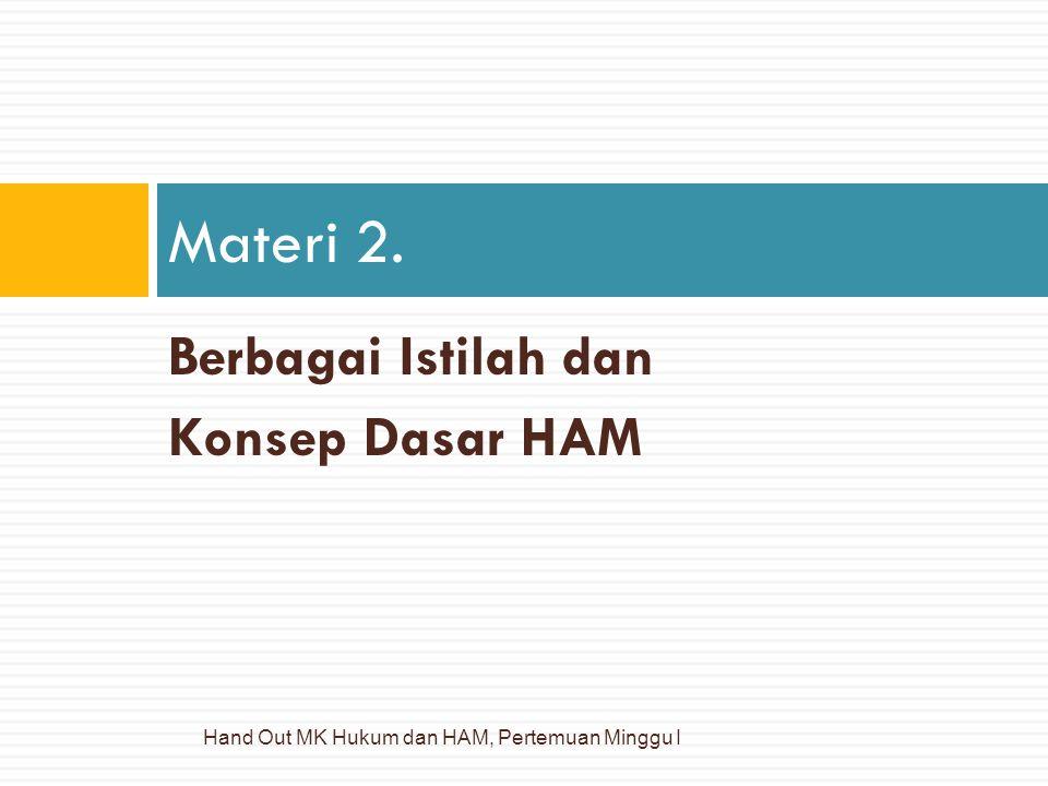 Materi 2. Berbagai Istilah dan Konsep Dasar HAM