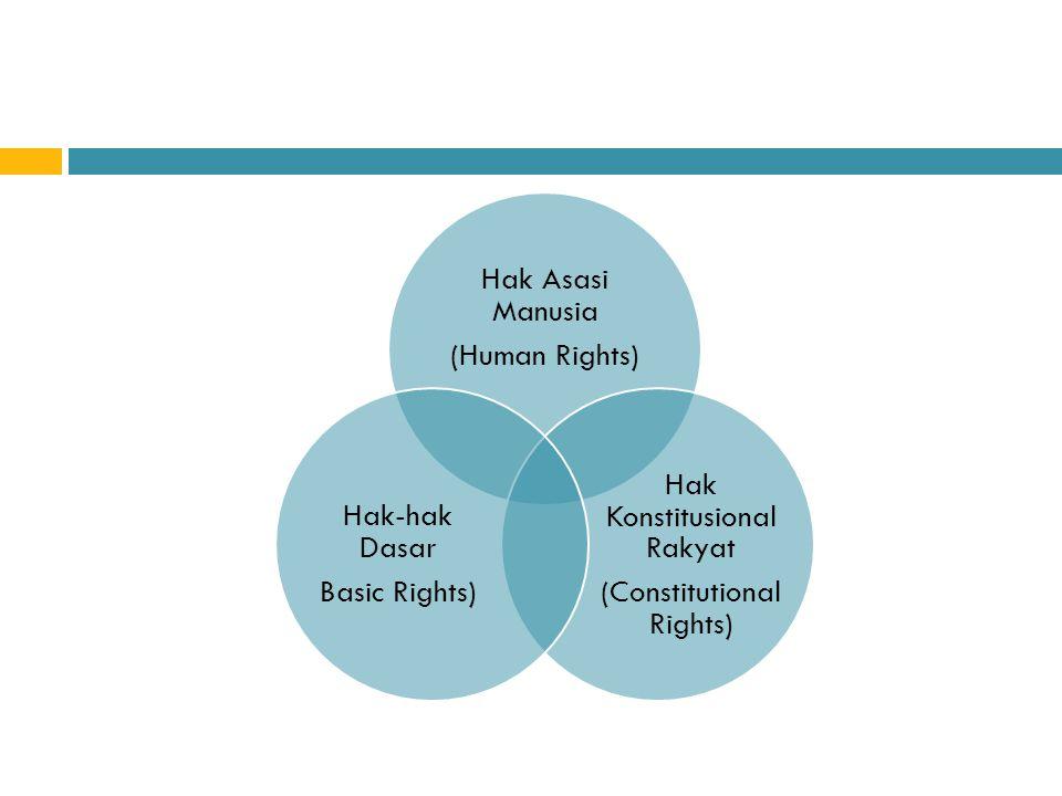 Hak Konstitusional Rakyat (Constitutional Rights) Hak-hak Dasar
