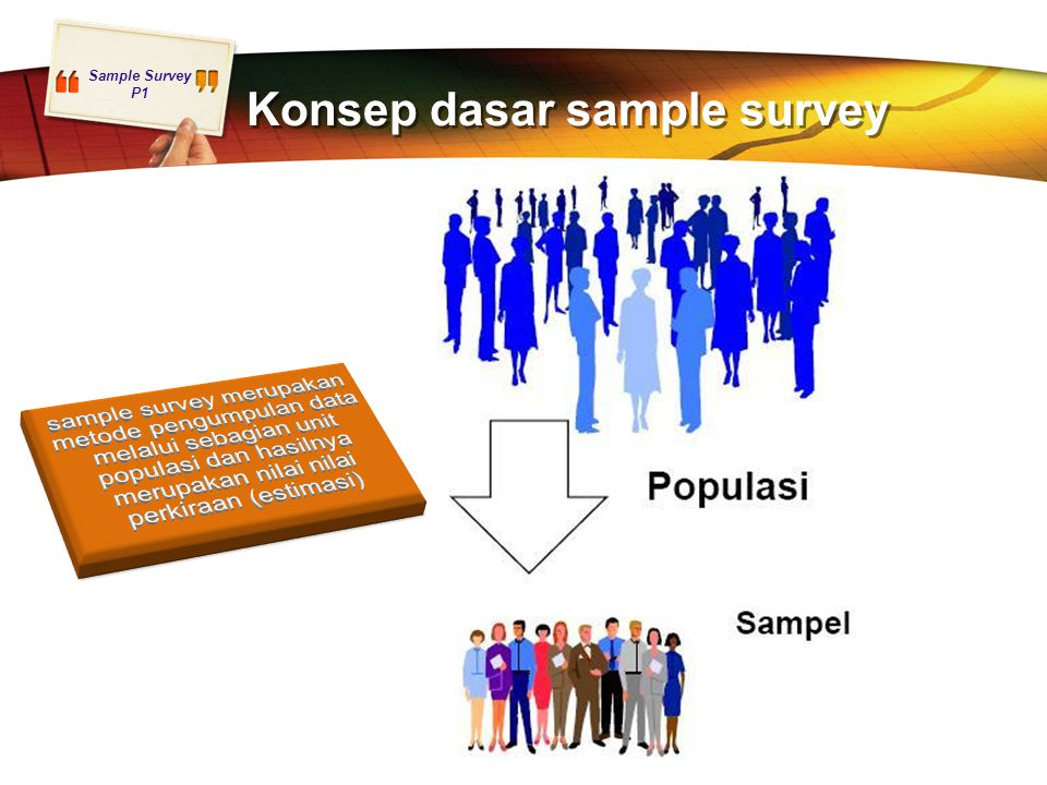 Konsep dasar sample survey