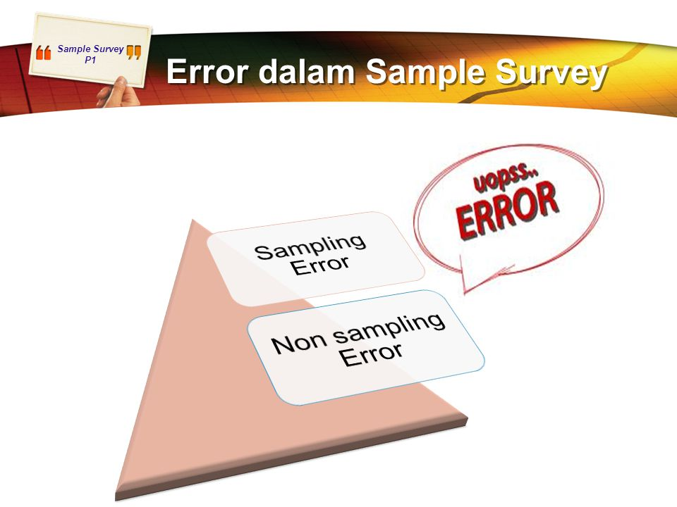 Error dalam Sample Survey
