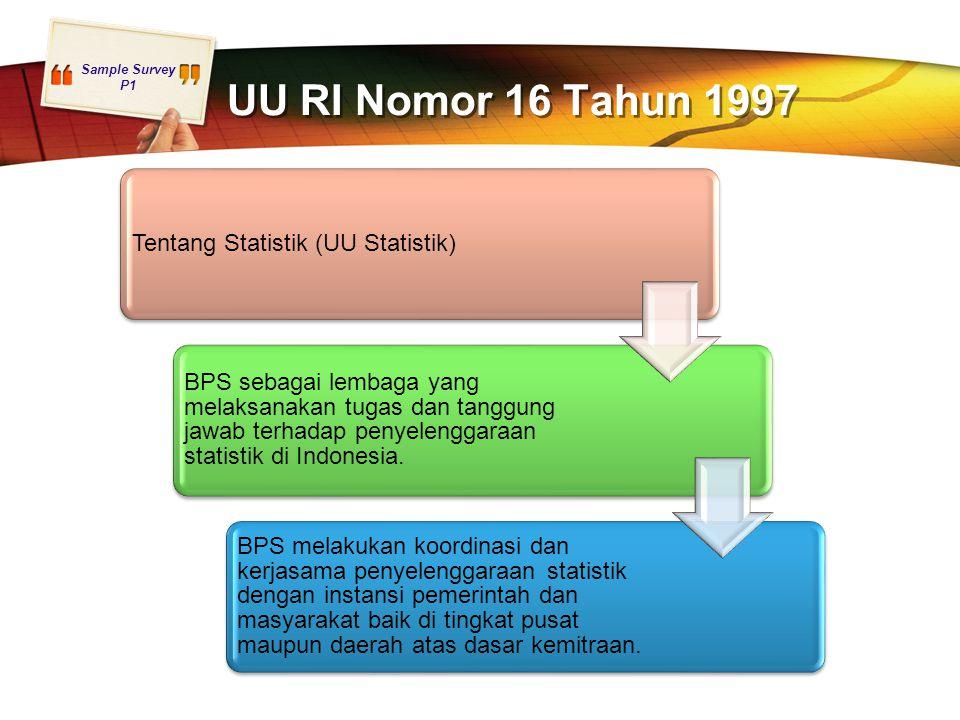 UU RI Nomor 16 Tahun 1997 Tentang Statistik (UU Statistik)