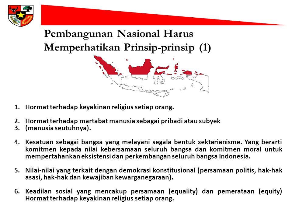 Pembangunan Nasional Harus Memperhatikan Prinsip-prinsip (1)