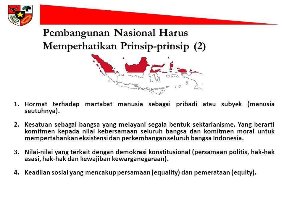 Pembangunan Nasional Harus Memperhatikan Prinsip-prinsip (2)