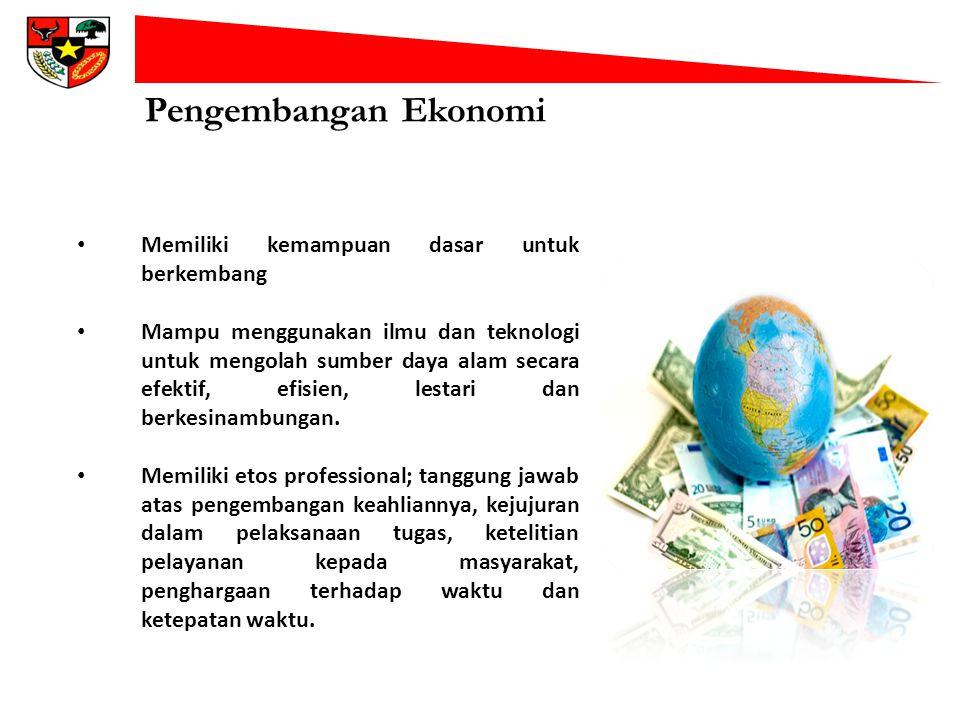 Pengembangan Ekonomi Memiliki kemampuan dasar untuk berkembang