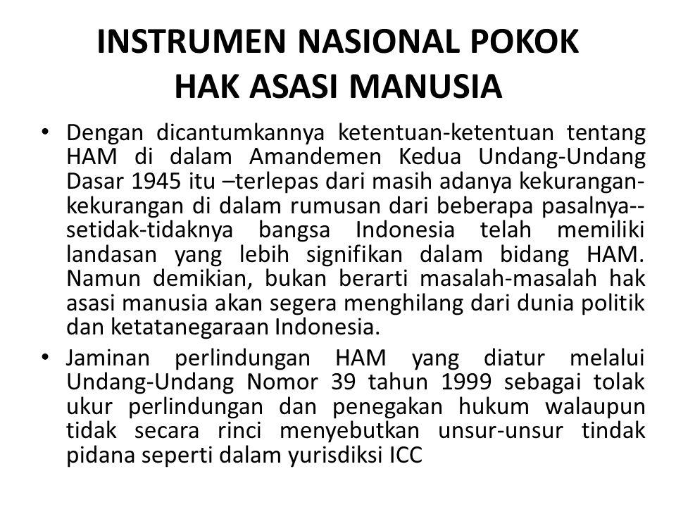 INSTRUMEN NASIONAL POKOK HAK ASASI MANUSIA