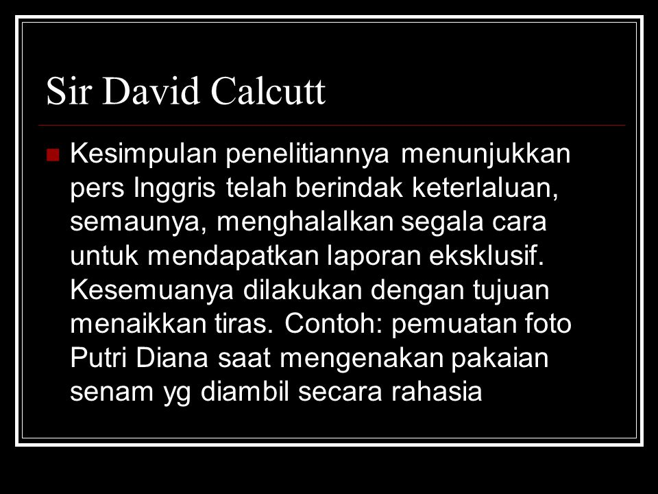 Sir David Calcutt