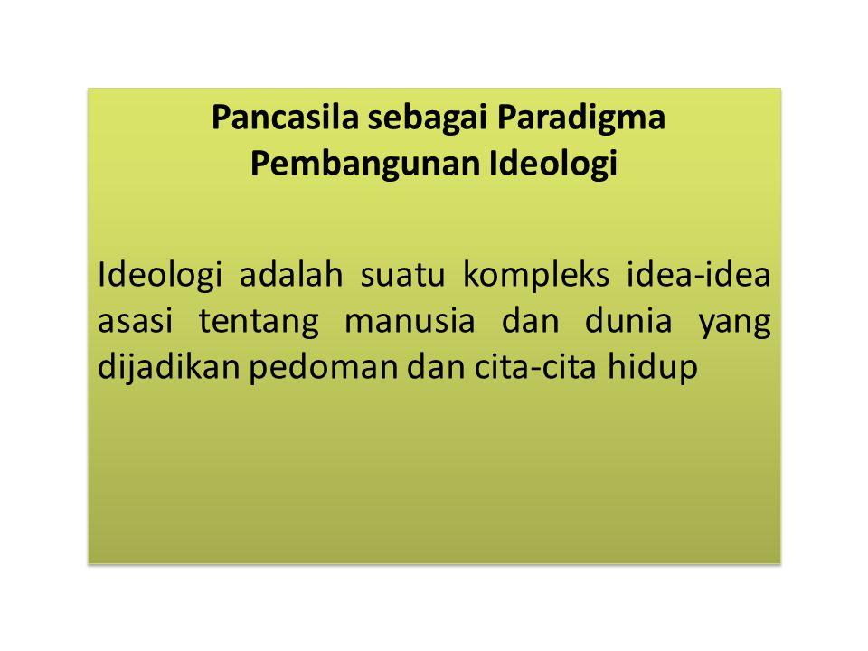 Pancasila sebagai Paradigma Pembangunan Ideologi