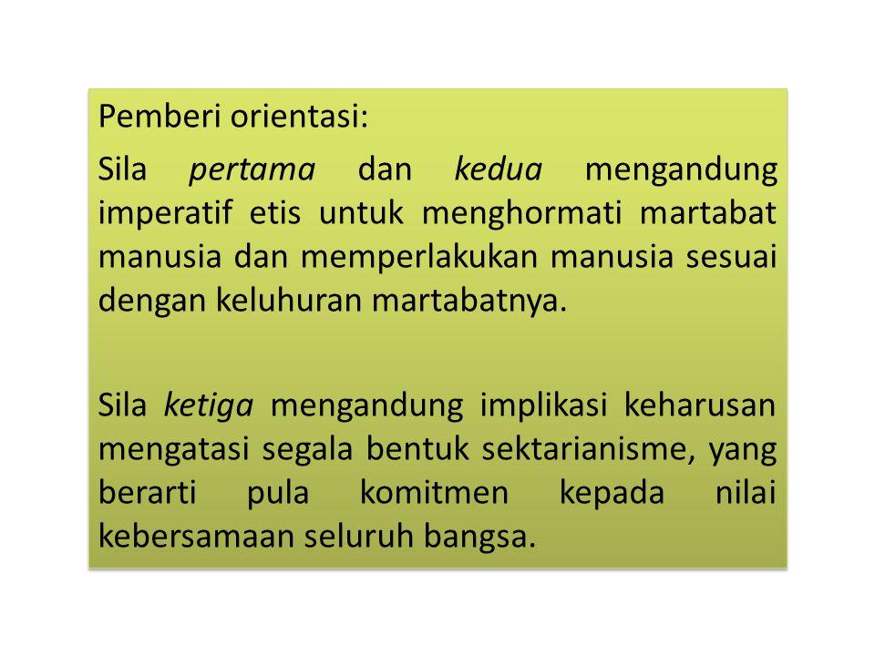 Pemberi orientasi: