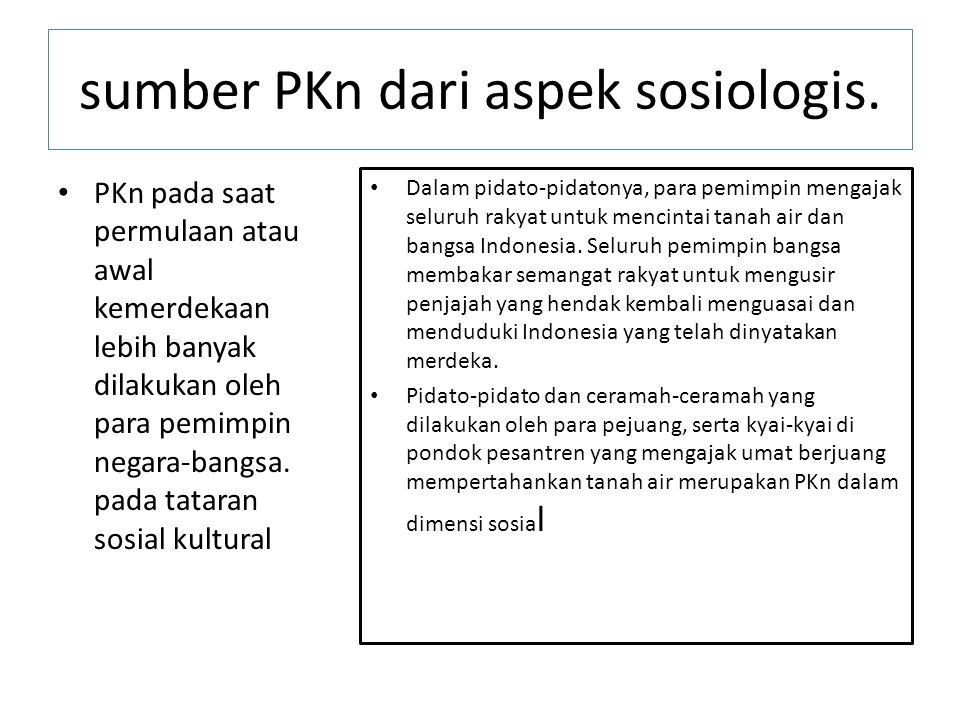 sumber PKn dari aspek sosiologis.