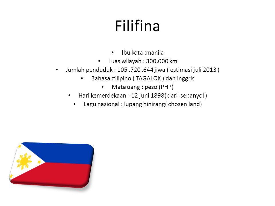 Filifina Ibu kota :manila Luas wilayah : 300.000 km