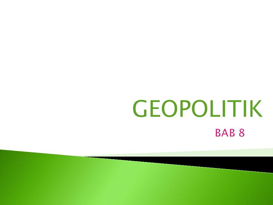 GEOPOLITIK BAB 8