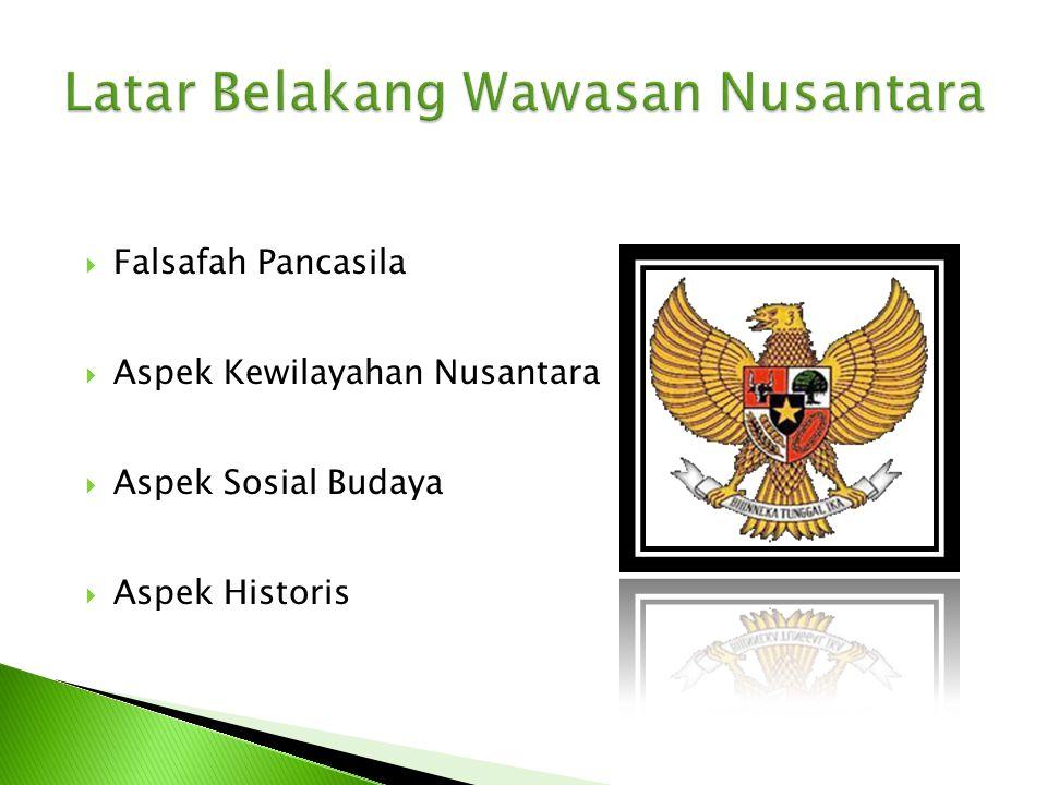 Latar Belakang Wawasan Nusantara