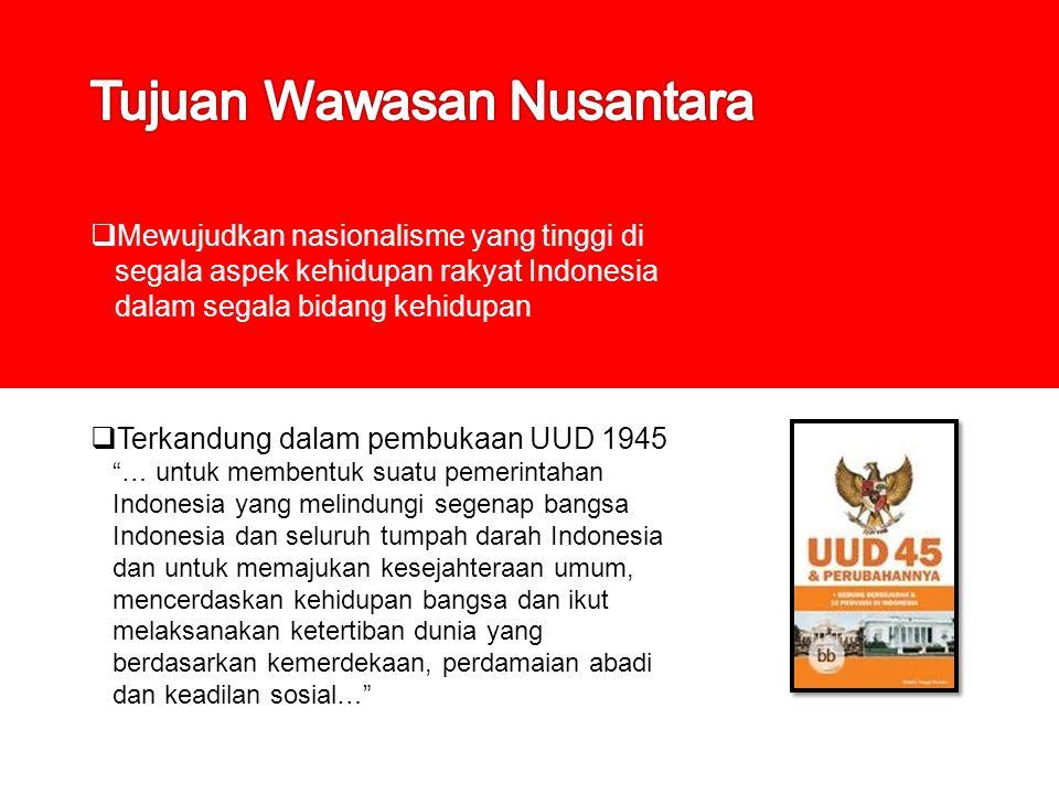 Tujuan Wawasan Nusantara