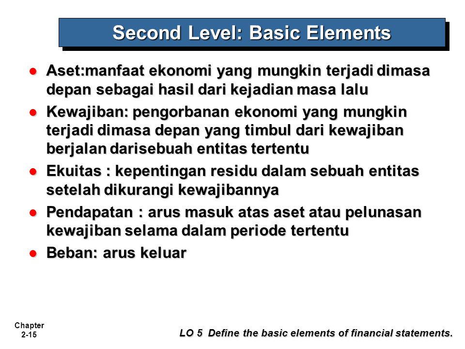 Second Level: Basic Elements