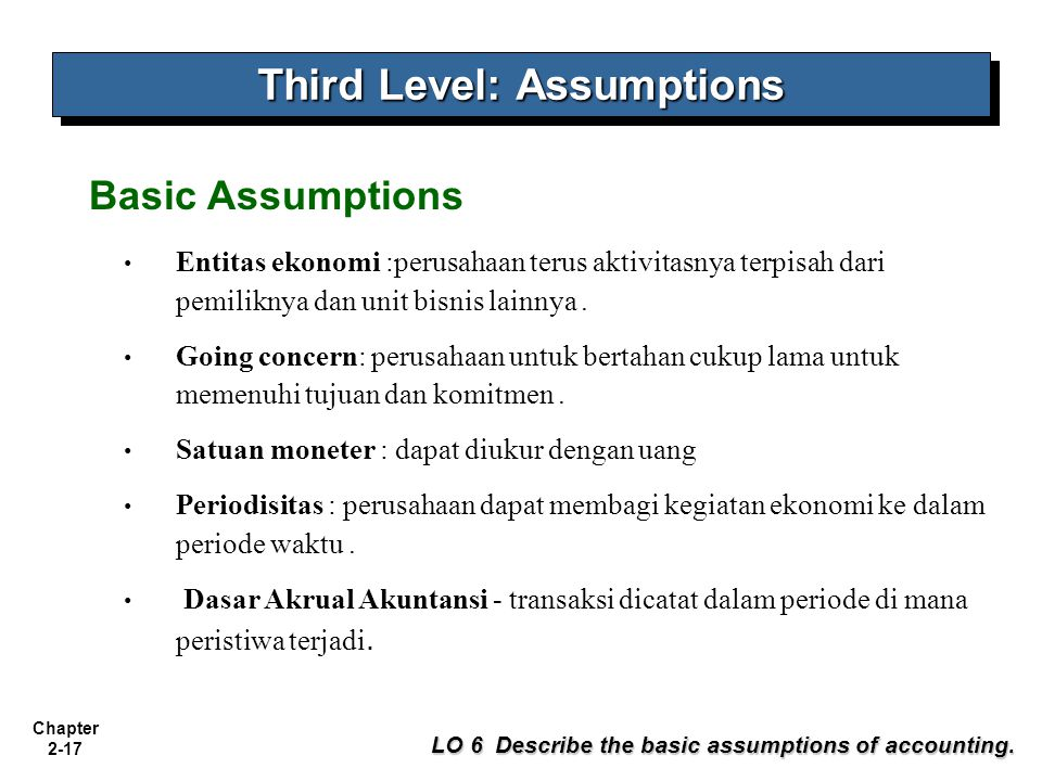 Third Level: Assumptions