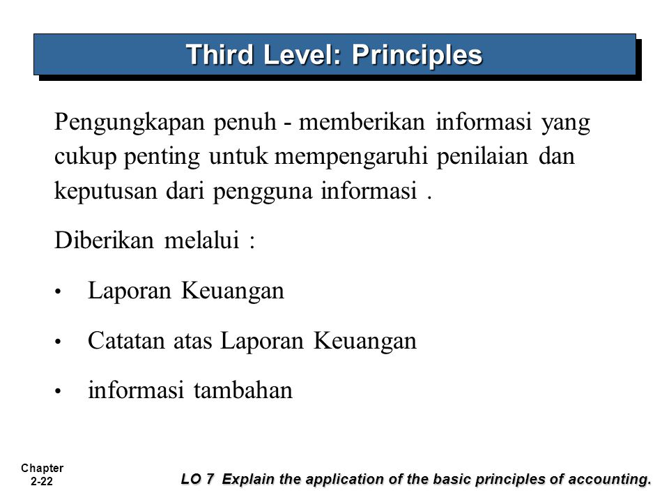 Third Level: Principles