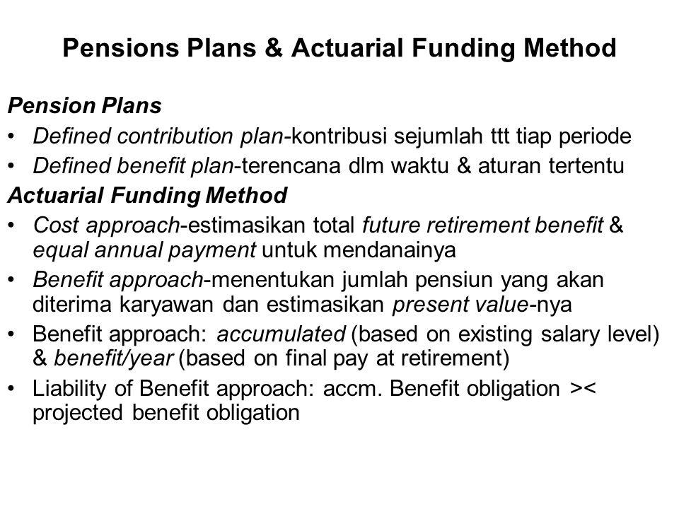 Pensions Plans & Actuarial Funding Method