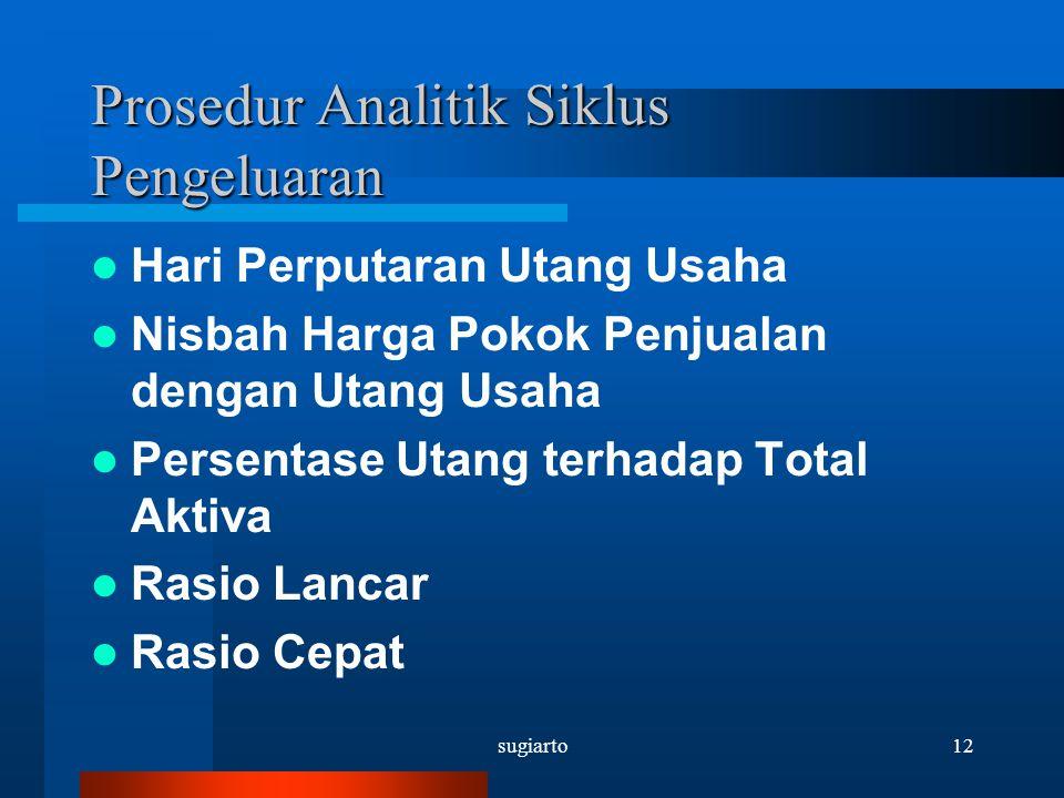 Prosedur Analitik Siklus Pengeluaran