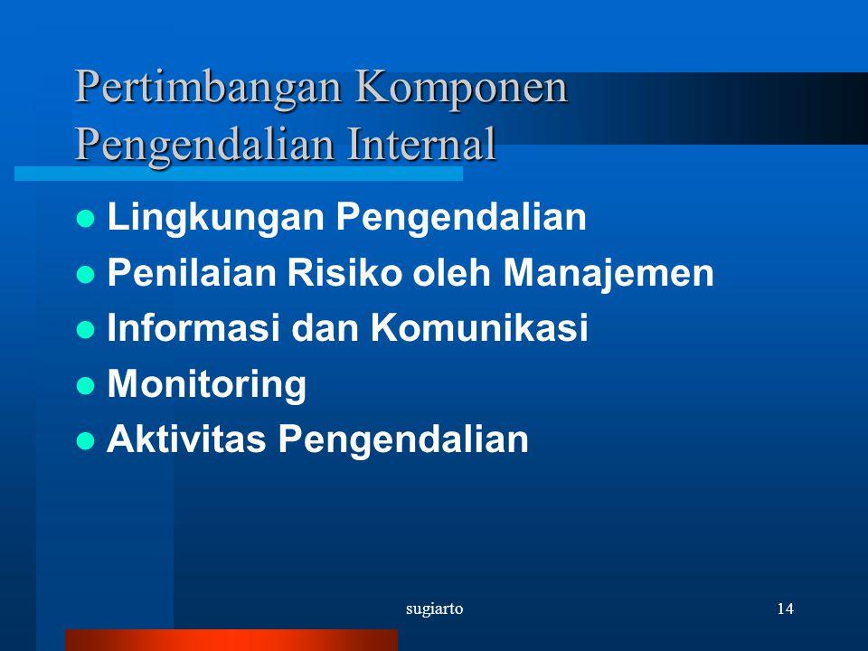 Pertimbangan Komponen Pengendalian Internal