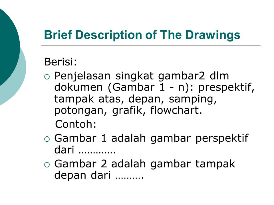 Brief Description of The Drawings