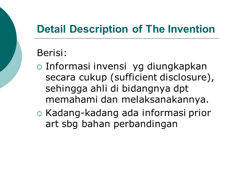 Detail Description of The Invention