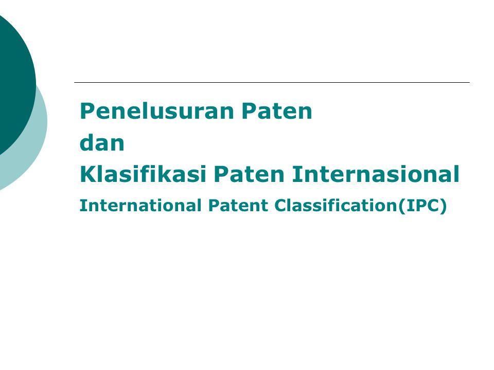 Klasifikasi Paten Internasional