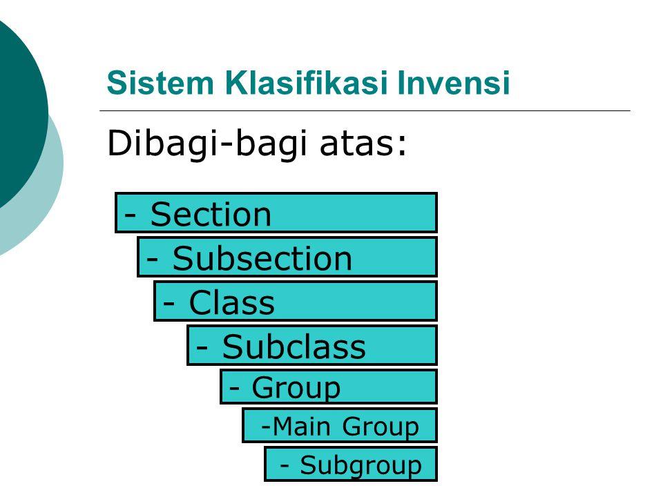 Sistem Klasifikasi Invensi