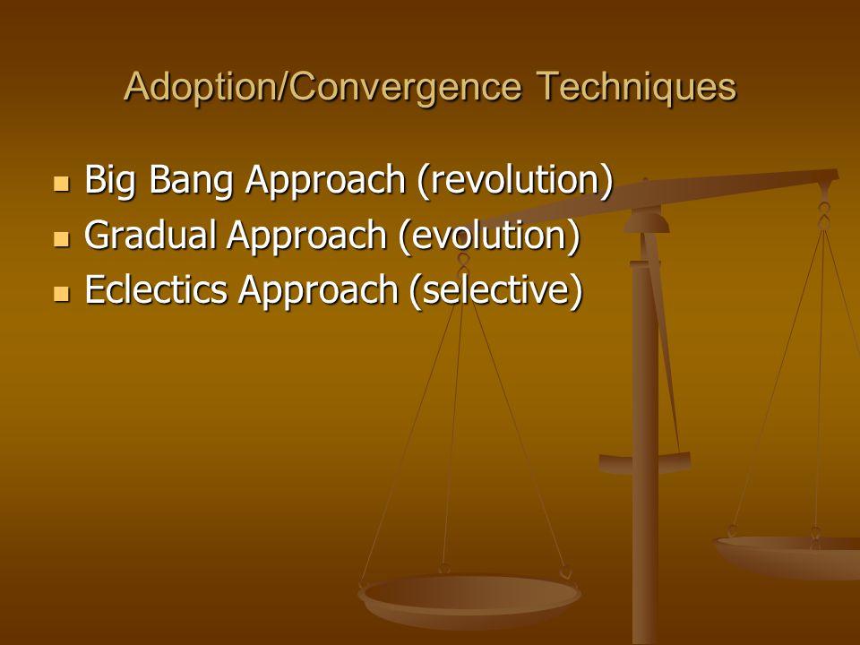 Adoption/Convergence Techniques