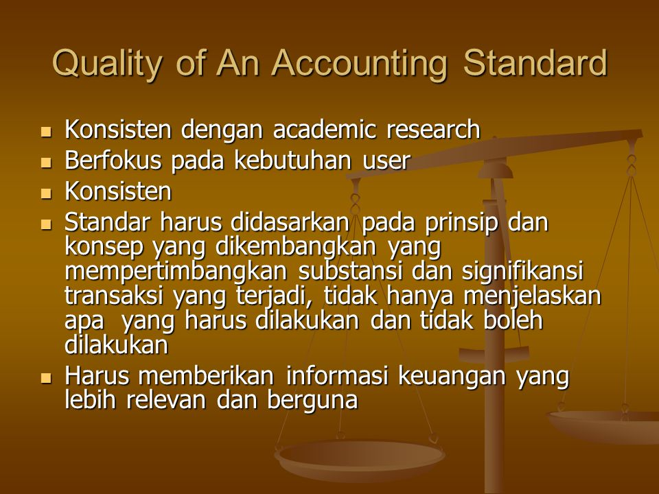 Quality of An Accounting Standard