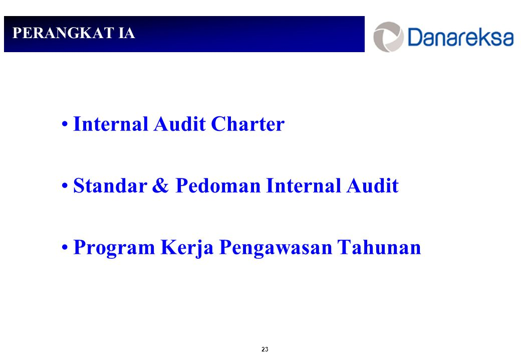 Internal Audit Charter Standar & Pedoman Internal Audit