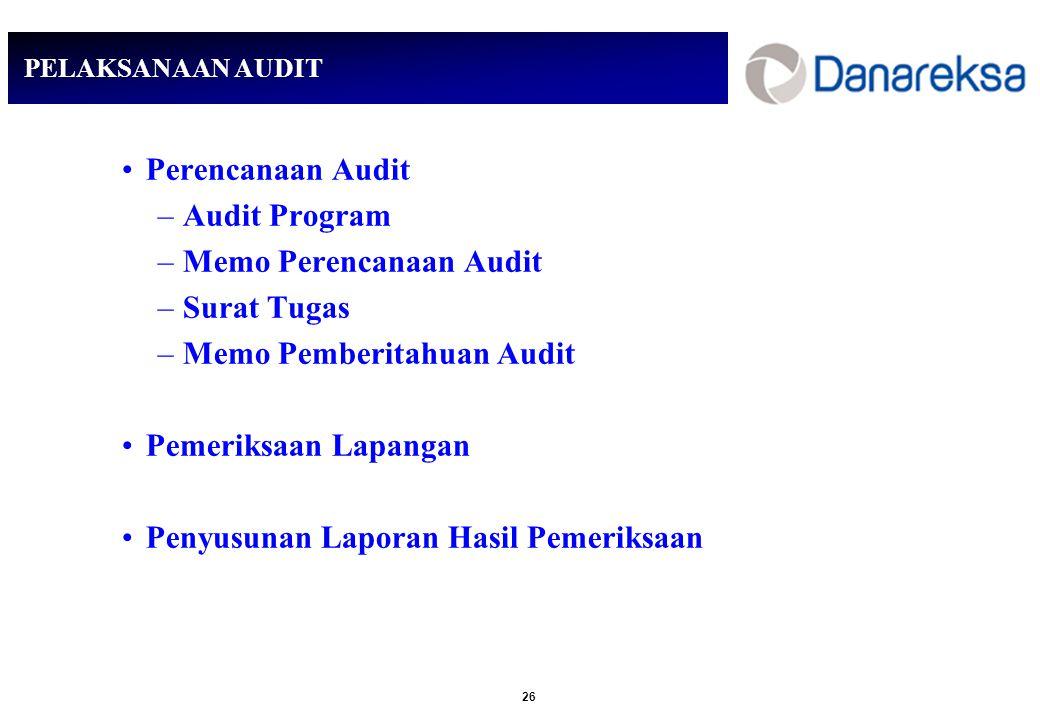 Memo Perencanaan Audit Surat Tugas Memo Pemberitahuan Audit