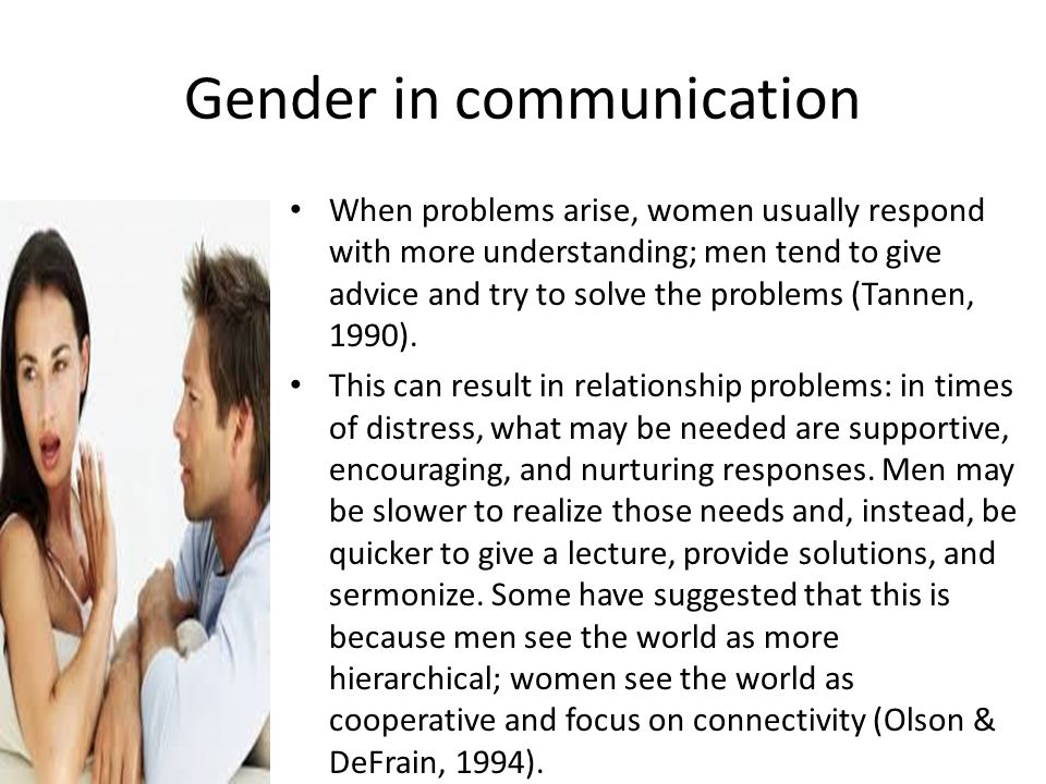 Gender in communication