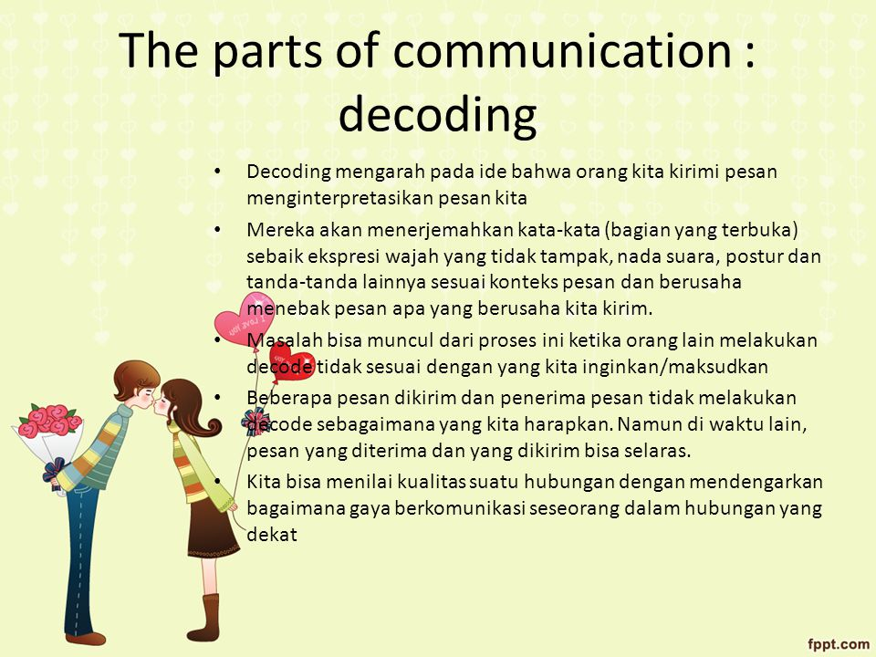 The parts of communication : decoding
