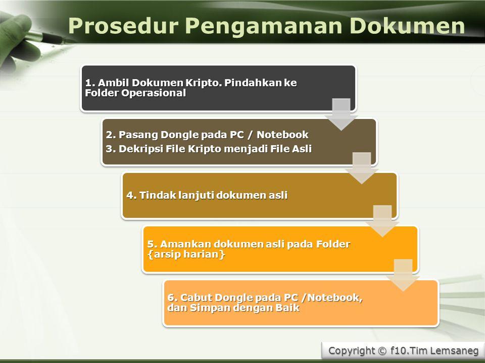 Prosedur Pengamanan Dokumen