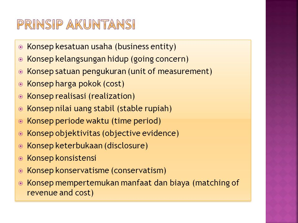 Prinsip akuntansi Konsep kesatuan usaha (business entity)