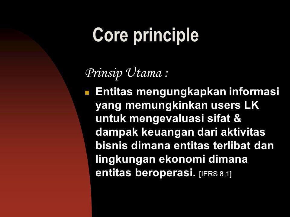 Core principle Prinsip Utama :